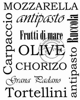 Keukensticker Italiaanse lekkernij