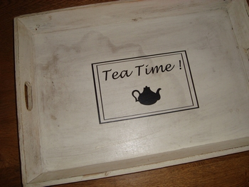 Decoratiesticker Tea time met kader