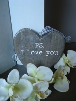 Houten hartje ps. i love you