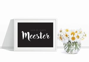 Briefkaart voor de liefste Meester