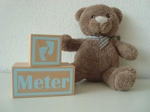 Houten blok Meter