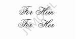 Decoratiesticker For him , For Her