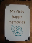 Geboortedoos my first happy memories
