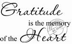 Interieursticker Gratitude