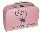 Kinderkoffertje met naam en kroon