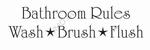 Muursticker Bathroom rules