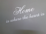 Muurtekst Home is where the heart is