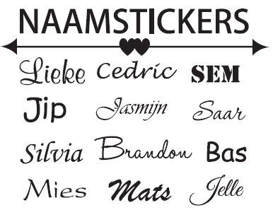 Naamstickers