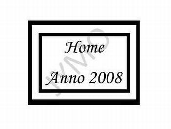Decoratiesticker Anno home