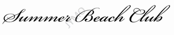Decoratiesticker Summer Beach club