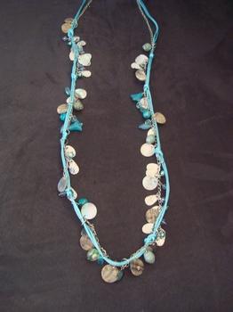 Halsketting Blauw touw