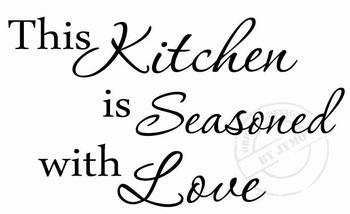 Keukensticker This kitchen is seasoned