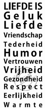 Interieursticker Liefde is
