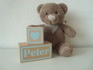 Houten blok Peter
