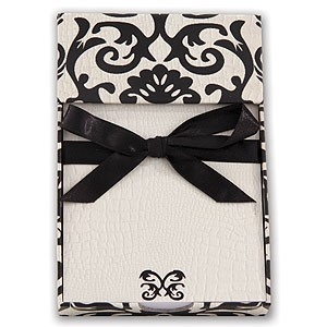 Black Damask Memo Pad