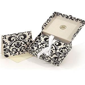 Black Damask Box Notecards
