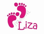 Geboortesticker voetjes