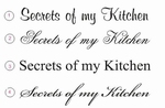 Decoratiesticker Secrets