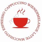 Keukensticker Coffee rond