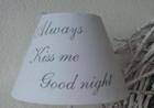 Lampenkapje Always kiss me goodnight